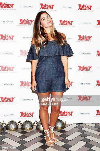 Imogen Thomas attends the gala screening of 'Asterix The Mansions of the Gods' at Picturehouse Central on August 7 2016 in London England