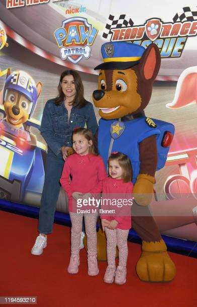 """Imogen Thomas attends the gala screening of """"Paw Patrol"""" at Cineworld Leicester Square on January 19, 2020 in London, England."""