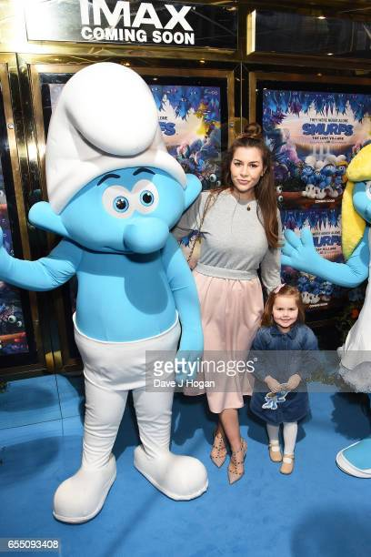Imogen Thomas attends the Gala Screening of 'Smurfs The Lost Village' at Cineworld Leicester Square on March 19 2017 in London England