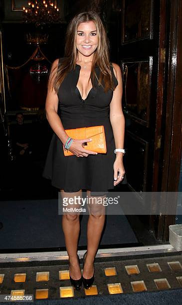 Imogen Thomas is seen on a night out at Cafe de Paris on May 23 2015 in London England
