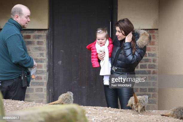 Imogen Thomas is seen visiting ZSL London Zoo with her daughter Ariana on February 17 2014 in London England