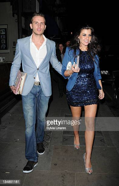 Imogen Thomas leaving her birthday party held at Zefi Bar on December 3 2011 in London England