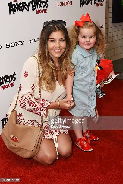 Imogen Thomas with her daughter Ariana attend the UK gala screening of 'Angry Birds' at Picturehouse Central on May 7 2016 in London England
