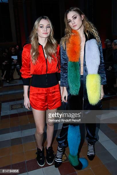 Imogen Waterhouse and her sister Suki Waterhouse attend the Sonia Rykiel show as part of the Paris Fashion Week Womenswear Fall/Winter 2016/2017 on...