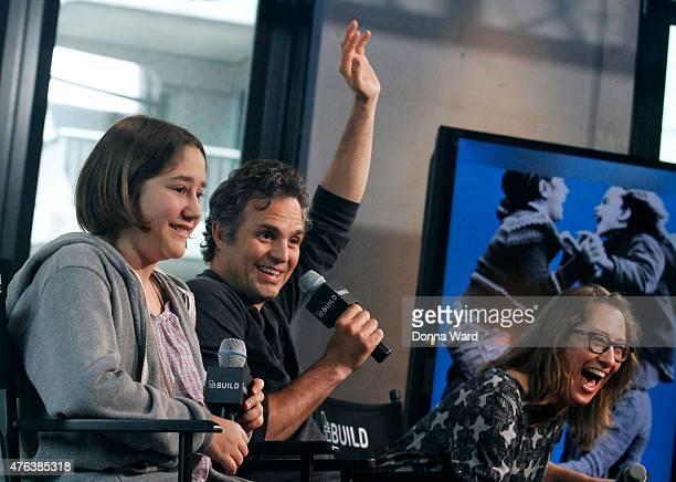 Imogene Wolodarsky Mark Ruffalo and Maya Forbes discuss Infinitely Polar Bear during the AOL BUILD Speaker Series at AOL Studios In New York on June...