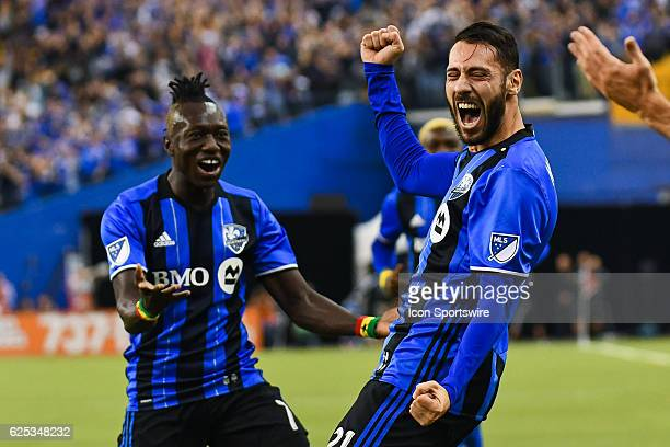 Impact forward Matteo mancosu celebrating his goal the second one of the game making it 2o Impact during the Toronto FC versus the Montreal Impact...