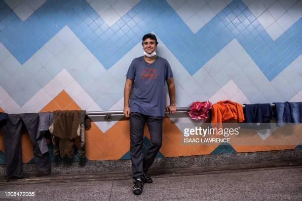 ImpactHK founder and CEO Jeff Rotmeyer poses for a portrait after handing out supplies of face masks hand sanitisers food and drinks to the homeless...