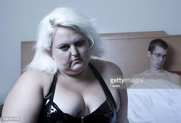 impatience. - fat blonde women stock photos and pictures