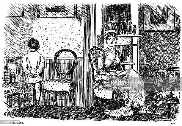 'Impenitent', 1878 . A print from Society Pictures, drawn by George du Maurier, selected from Punch, Volume II, London, 1891.