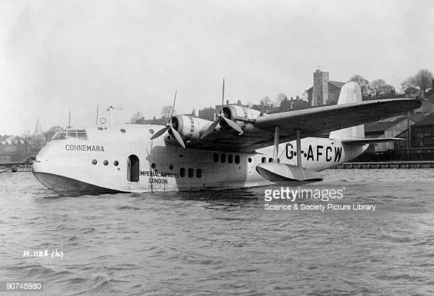 Imperial Airways Short S30 Empire flying boat 'Connemara' Rochester Kent November 1938