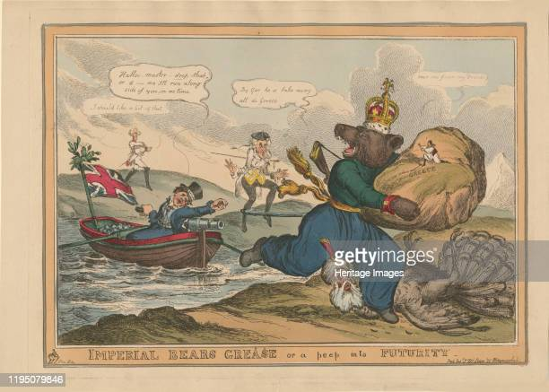 Imperial Bears Grease or a peep into futurity Caricature on the RussoTurkish War 18281829 1828 Private Collection Artist Heath William