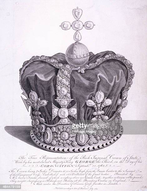 Imperial crown of state worn by King George III on his coronation 1763