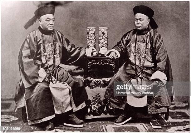 Imperial Mandarin Ministers Mandarin Square China circa 1900