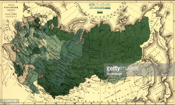 Imperial Map of Russia 1890 Illustration by Kastelli