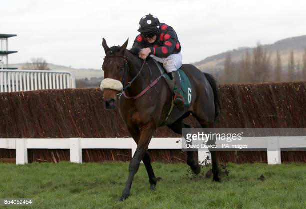 Imperial Shabra ridden by jockey R. P. Treacy in action during The Jenny Mould Memorial Handicap Chace