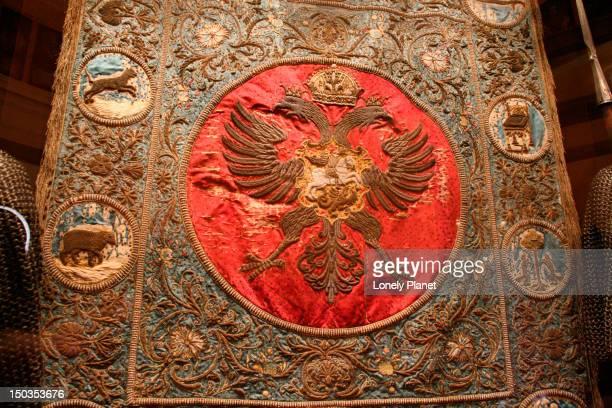 Imperial standard in Kremlin Armoury.