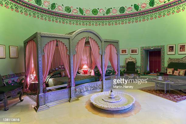 Imperial Suite, room 19, of the Shiv Niwas Palace Hotel. Part of the City Palace Complex in Udaipur, India. (PR: Property Released)
