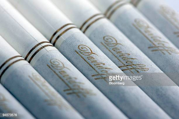 Imperial Tobacco branded Davidoff cigarettes are arranged for a photo in London, U.K., on Monday, Oct. 29, 2007. Imperial Tobacco Group Plc will bid...
