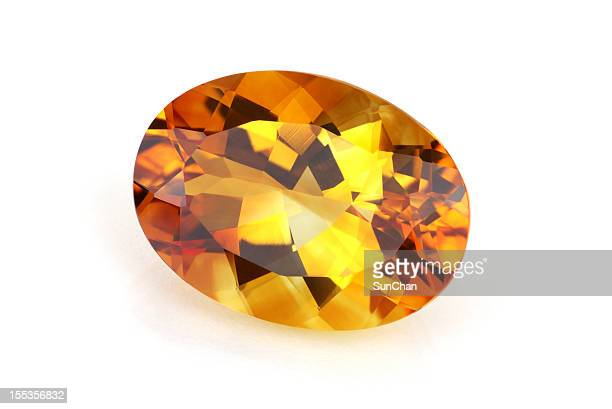 imperial topaz or citrine - topaz stock photos and pictures