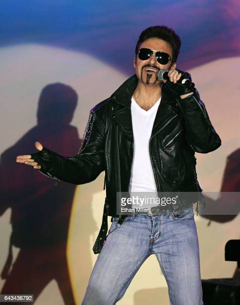 Impersonator Bill Pantazis of Canda performs as George Michael during The Reel Awards 2017 at the Golden Nugget Hotel Casino on February 20 2017 in...