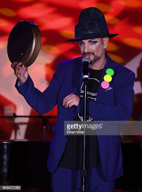 Impersonator Keith George of the UK as Boy George accepts the Pop N Rock for Reel award during The Reel Awards 2017 at the Golden Nugget Hotel Casino...