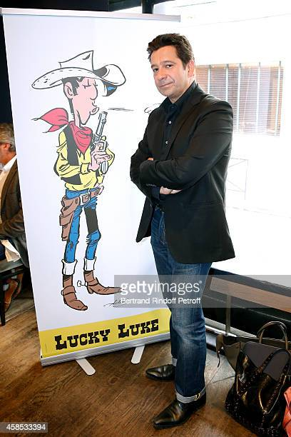 Impersonator Laurent Gerra presents the new comics album of Lucky Luke 'Les Tontons Dalton' which he is the cowriter He also presents his DVD...