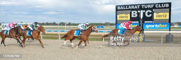 Impetus ridden by Daniel Stackhouse wins the Hertz 2YO Maiden Plate at Sportsbet-Ballarat Synthetic Racecourse on June 30, 2020 in Ballarat,...