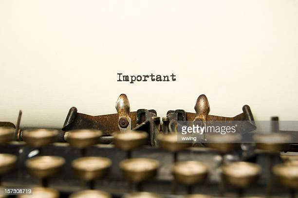 Important on antique typewriter