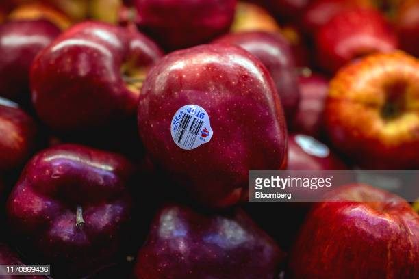 Imported American apples are displayed for sale inside a grocery store in Ho Chi Minh City Vietnam on Sunday Sept 8 2019 As Vietnam has become...