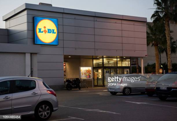 Imported German product supermarket chain Lidl seen in Spain