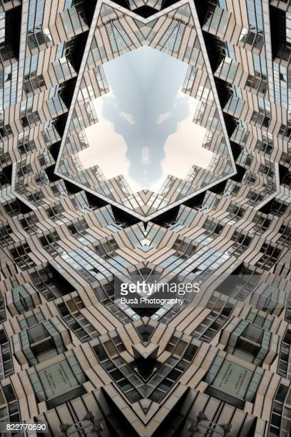 impossible architectures: digital manipulation of art-deco-inspired department store quartier 206 in friedrichstrasse, berlin, germany - image manipulation stock pictures, royalty-free photos & images