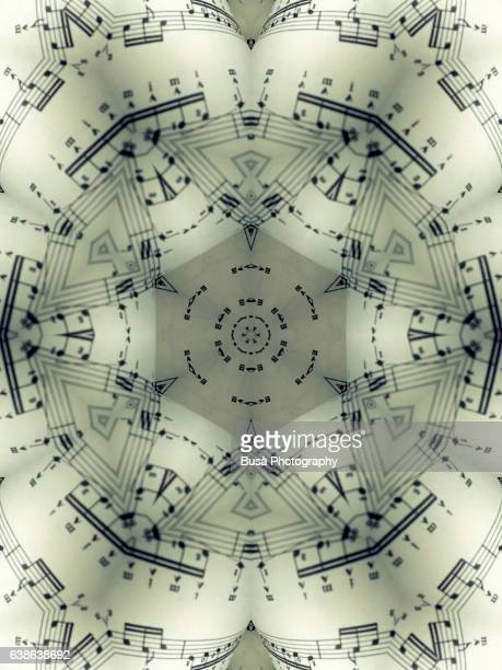 Impossible architectures: digital manipulation of close-up image of sheet music