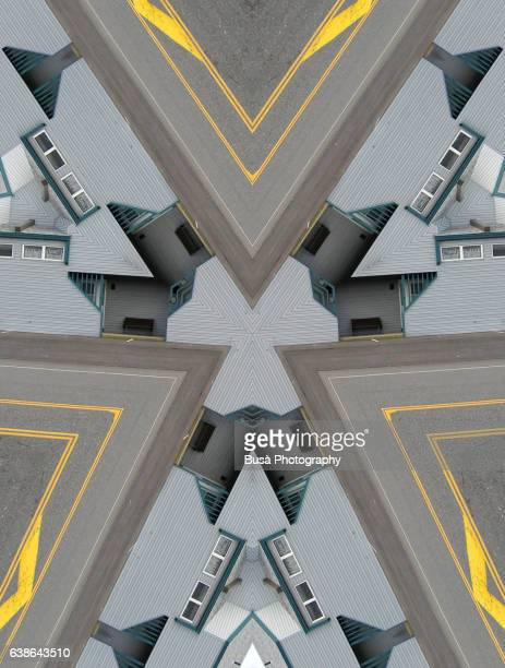 Impossible architectures: digital manipulation of image of suburban housing and asphalt in Surf City, New Jersey