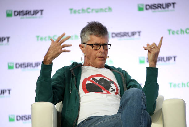 Impossible Foods founder and CEO Patrick Brown speaks during the TechCrunch Disrupt SF 2019 conference at Moscone Center on October 02, 2019 in San...