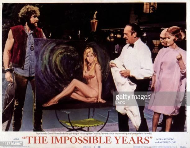 Impossible Years lobbycard THE Jeff Cooper Cristina Ferrare David Niven Lola Albright 1968