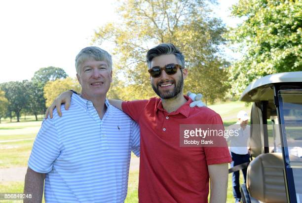 Impractial Jokers writer Casey Jost and his father Daniel A Jost attend the 2nd Annual Laughs On The Links Celebrity Golf Tennis Bocce Outing at...