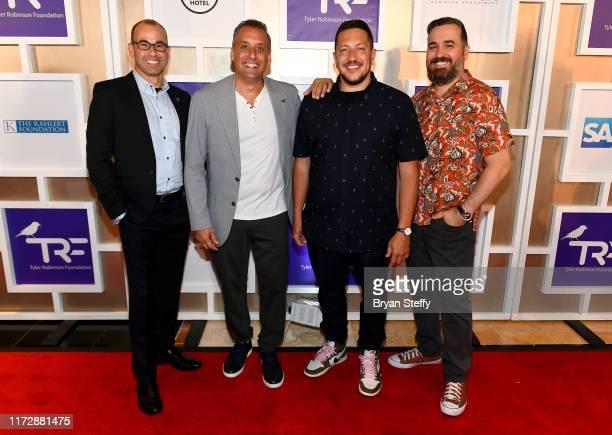 'Impractical Jokers' cast members James Murray Joe Gatto Sal Valcano and Brian Quinn attend Imagine Dragons' sixth annual Tyler Robinson Rise Up Gala...