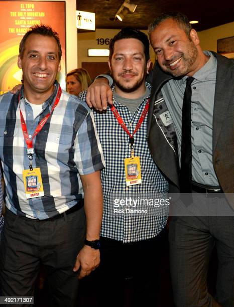 Impratical Jokers Joe Gatto and Sal Vulcano with Comedian Ahmed Ahmed attend the Wild West Comedy Festival The Lonely Island presented by Bud Light...