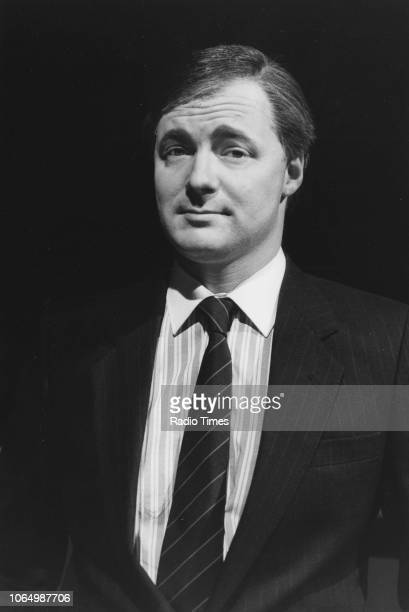 Impressionist Rory Bremner in costume as politician David Steel in a sketch from the television series 'The Rory Bremner Show' April 26th 1988