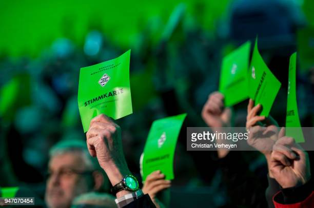 Impressions during the Annual Meeting of Borussia Moenchengladbach at BorussiaPark on April 16 2018 in Moenchengladbach Germany