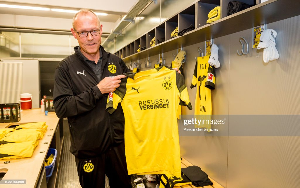 Impressions of Borussia Dortmund's changing room prior to the Bundesliga match between Borussia Dortmund and Eintracht Frankfurt at the Signal Iduna Park on September 14, 2018 in Dortmund, Germany.