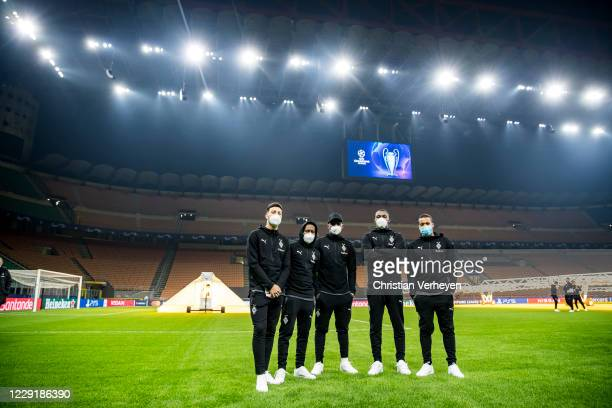 Impressions of Borussia Moenchengladbach at a site visit ahead the Group B - UEFA Champions League match between FC Internazionale and Borussia...