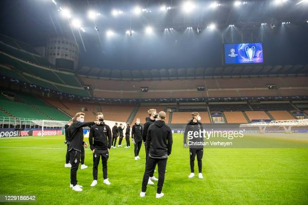 Impressions of Borussia Moenchengladbach at a site visit ahead the Group B UEFA Champions League match between FC Internazionale and Borussia...