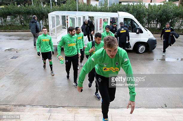 Impressions of day five of the Borussia Moenchengladbach training camp on January 12 2015 in Belek Turkey