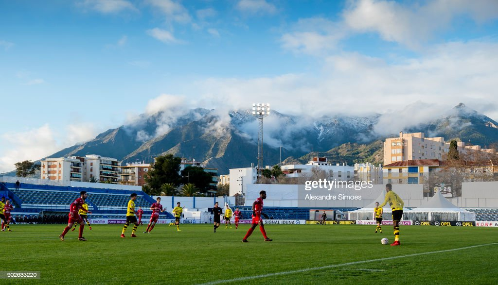 Impressions of the friendly match between Borussia Dortmund and SV Zulte Waregem as part of the training camp at the Estadio Municipal de Marbella on January 08, 2018 in Marbella, Spain.