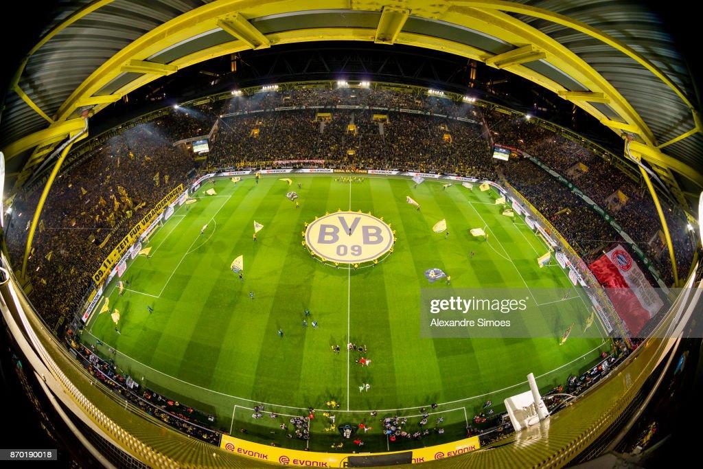 Impressions of the Signal Iduna Park prior to the Bundesliga match between Borussia Dortmund and FC Bayern Muenchen at the Signal Iduna Park on November 04, 2017 in Dortmund, Germany.