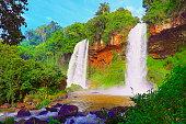 impressive iguacu falls landscape from argentina