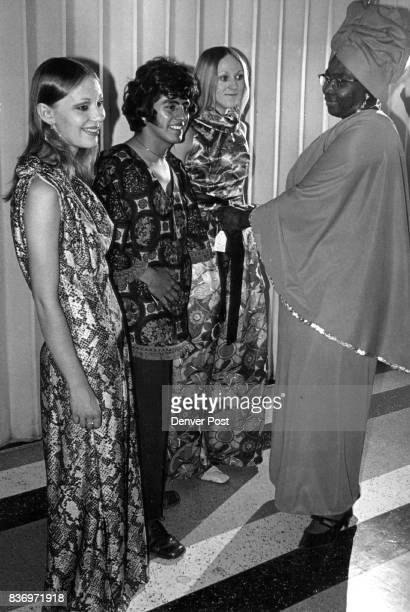 Imprint of Africa Seen in DenverDesignedAndMade Garments The Rev Mary Bryant readies models for a showing of fashions she designed and made in a...