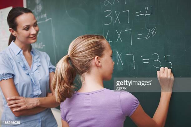 Improving on her mathematics