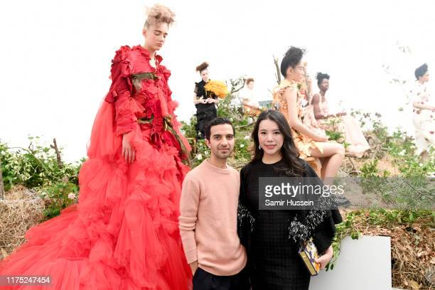 Imran Ahmed and Wendy Yu, CEO and Founder of Yu Holdings, principal partner of the BoF China Prize, attend a presentation in celebration of BoF China...